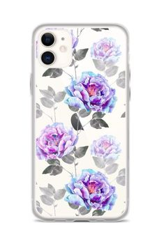 Excited to share this item from my shop: Purple Vintage Flowers Clear iPhone 11 Pro Case For iPhone 6 7 8 Plus X 10 XR XS Max Samsung Galaxy Lite Cover Iphone 6, Iphone 11 Pro Case, Iphone Phone Cases, Iphone Case Covers, Cute Cases, Cute Phone Cases, Future Iphone, Custom Iphone Cases, Galaxy S7