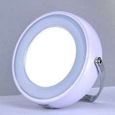 TOUCHBeauty Touch Beauty  7Cm Double Sided Led Light Makeup Mirror In Pearl White 1 Side Normal And 1 Side 5X Zoom *** You can find more details by visiting the image link.