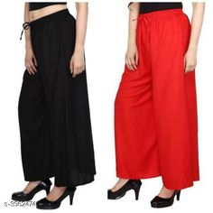 Checkout this latest Palazzos Product Name: *New Fabulous Rayon Women's Palazzos Combo * Fabric: Rayon Waist Size: Up To 28 in To 42 in (Free Size ) Length: Up To 39 in Type: Stitched Description: It Has 2 Pieces Of Women's Palazzos  Pattern: Solid Country of Origin: India Easy Returns Available In Case Of Any Issue   Catalog Rating: ★4 (755)  Catalog Name: Lasafiya Fabulous Rayon Women's Palazzos Combo CatalogID_558946 C79-SC1039 Code: 363-3962474-498