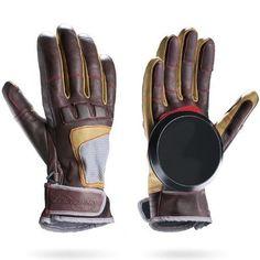 Loaded Advanced Freeride Longboard Slide Gloves With Pucks Size L/XL, Multi