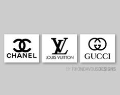Chanel Louis Vuitton Gucci Logo Fashion by RhondavousDesigns2