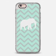 Elephant Chevron Pale Pastel Mint Grey Chevron Pattern - New Standard