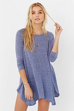 BDG Heathered Shark Bite T-Shirt Dress. This would be so cute paired with black skinny jeans and black booties.