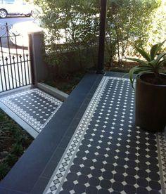 Tessellated Gallery 27 – Renditions Tiles Porch Tile, Patio Tiles, Outdoor Tiles, Outdoor Areas, Exterior Tiles, Exterior Design, Car Porch Design, Outside Tiles, Front Verandah