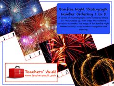 Bonfire Night Photograph Number Ordering - EYFS, KS1 Maths Themed Teaching Resources, Activities and Games