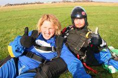 Great work! Over £800 pound raised for Mind by falling through the sky!