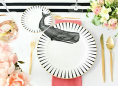 Whale of a Time plate set