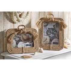 Rope Picture Frames from Coastal Bella.