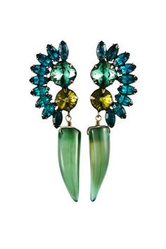 Style inspiration: outfits for summer: Dannijo earrings from Eclektica.com, $310.