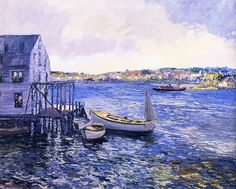 Boothbay Harbor painting by Edward Willis Redfield