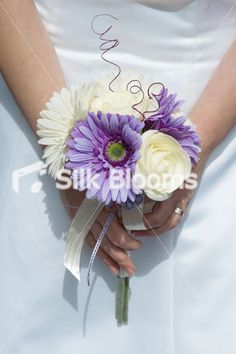 Gerber Daisy Bridesmaid Bouquets | Daisy Buttonhole Ultra Modern, Cerise Pink Rose Fuchsia Gerbera Daisy ...