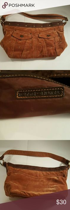 Tommy Hilfiger Purse Tommy Hilfiger Purse, excellent condition. With pockets,  corduroy. Bags Shoulder Bags
