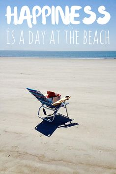 Happiness is a day at the #beach. #quotes #inspiration #vacation #relaxation