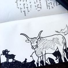 This drawing is part of Genesis 15 when Abraham constantly keeps asking for Lord to assure him about his promises for future. That's when Lord asks him to bring a heifer goat ram all of them about 3 years old along with five and a pigeon. #print #screenprinting #art #artist #designer #graphicdesign #bibleverse #bible #biblejournaling #biblejournalingcommunity #biblestudy #biblequotes #jesus #christ #love #spiritual #holyspirit #kindness #forgiveness #genesis #adamandeve #photographyislifee…