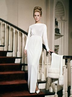 An Edith Head dress worn by Tippi Hedren in Marnie (directed by Alfred Hitchcock, 1964).