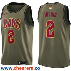 fb98d94ee Nike Cavaliers Kyrie Irving Green Salute to Service The Finals Patch NBA  Swingman Jersey