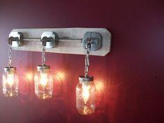 Mason jar light would look great as a bedroom wall sconce (ebay)