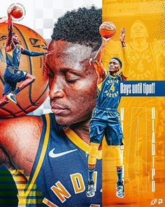 """✖️Carson Reichert✖️'s Instagram photo: """"4 Days Till Tip-off with Victor Olidipo  x  @vicoladipo + + +  (2/6 in my countdown series till tip off) + + + + Collab with @porter.gray…"""" Sports Graphic Design, Sports Graphics, Aesthetic Design, Nba Players, Basketball, Tips, Conversation, Advertising, Photography"""