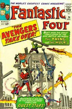 Fantastic Four VG Marvel comic 1964 Avengers Hulk X-over Kirby Marvel Comics, Old Comics, Marvel Comic Books, Comic Books Art, Comic Art, Book Art, Marvel Heroes, Comic Pics, Hulk Comic