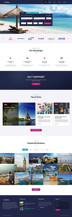 Travel website inspirations at your coffee break? Browse for more Bootstrap #templates! // Regular price: $75 // Sources available: .HTML,  .PSD #Last Added #Bootstrap