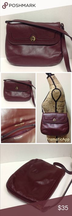 adbd1accebb5 Etienne Aigner Vintage Handmade Leather Handbag Etienne Aigner Vintage  Handmade Oxblood Leather Handbag. Gently used
