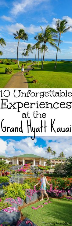 10 Unforgettable Experiences at the Grand Hyatt Kauai Resort and Spas - Hawaii - includes travel pictures of the rooms, pools, beaches, breakfasts, activities, gardens and sunrise.  Also dinner at Tidepools, one of the best restaurants on Kauai.  This is a favorite Kauai Resort for Honeymoons and luxury hotels in paradise! / Running in a Skirt via @juliewunder