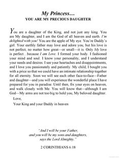 His Princess: Love Letters from Your King ~~ I will forever Praise you and cherish that night I found you. Thank you my Heavenly Father! Faith Quotes, Bible Quotes, Bible Verses, Pray Quotes, Lion Quotes, Biblical Verses, Qoutes, God Is For Me, God Is Good