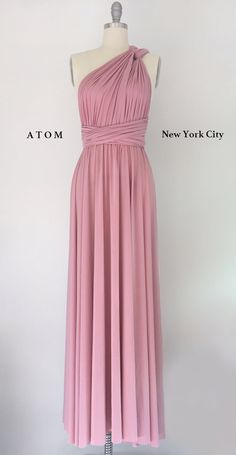 Rose Pink LONG Floor Length Ball Gown Infinity Dress Convertible Formal Multiway Wrap Dress Bridesmaid Dress Party Evening Dress Wedding