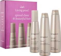 Living Proof Spread Cheer & Beautiful Hair Kit is a trio of products that combats the signs of aging for beautiful, healthy hair at any age.
