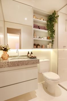 Built in shelves above toilet? – Cottage Bathrooms – Built in shelves above toilet? – Cottage Bathrooms – – most beautiful shelves – Shelves Above Toilet, Built In Shelves, Floating Shelves, Open Shelving, Küchen Design, House Design, Design Ideas, Sink Design, Beautiful Small Bathrooms