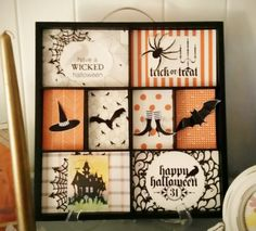 Paper Crafting Picks of the Week Pals Paper Crafting Card Ideas Wicked Cool Mary Fish Stampin Pretty StampinUp Halloween Shadow Box, Christmas Shadow Boxes, Halloween Frames, Halloween Cards, Holidays Halloween, Halloween Diy, Halloween Projects, Halloween 2019, Halloween Stuff