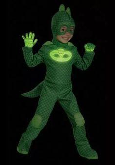 disfraz niño pj mask gekko traje héroes en pijamas