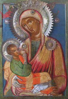 Икона Божией Матери  Млекопитательница. в Карейской келии монастыряря Хиландар