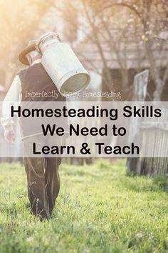 Homesteading skills are sort of a dying art. They used to be handed down naturally from generation to generation and we need to do that more than ever. Homestead Farm, Homestead Survival, Survival Prepping, Emergency Preparedness, Survival Skills, Survival Shelter, Wilderness Survival, Survival Gear, Survival Stuff