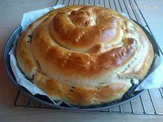 Makovo-tvarohovo-orechový slimák (fotorecept) - Recept Bagel, Doughnut, Pancakes, Bread, Breakfast, Desserts, Basket, Dios, Morning Coffee