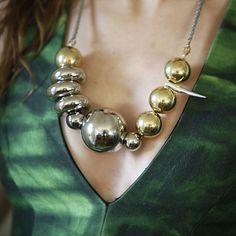 Gold & Silver Spheres  By Gabriela Artigas