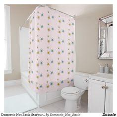 Domestic Not Basic Starburst Shower Curtain