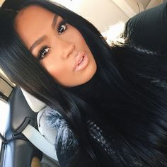 96.80$  Buy now - http://ali9ta.worldwells.pw/go.php?t=32770440013 - New Virgin Hair Lace Wig Straight Mongolian Human Virgin Hair Lace Front Wigs Baby Hair For Black Women
