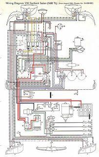 1965 VW Wiring Diagram | 1965 Volkswagen Type1 Beetle DIY Project 310060 | Stuff to Buy