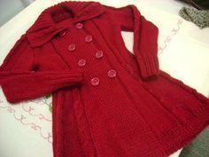 Crochet Dress Girl, Crochet Baby Jacket, Crochet Coat, Knitted Coat, Crochet Poncho Patterns, Coat Patterns, Girls Sweaters, Baby Sweaters, Baby Girl Vest