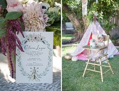 teepee + boho kids birthday party