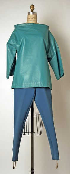 Blue Leather Top by Bonnie Cashin, Fall/Winter 1959-60