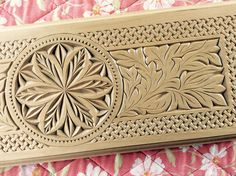 Custom chip carved cabinet panel