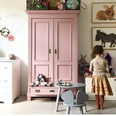 is a lovely colour for this statement armoire in a childs room. : is a lovely colour for this statement armoire in a childs room. Big Girl Bedrooms, Little Girl Rooms, Girls Bedroom, Childs Bedroom, Farrow Ball, Painting Kids Furniture, Painted Furniture, Bedroom Furniture, Cinder Rose Farrow And Ball