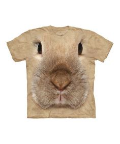 Take a look at this Tan Bunny Face Tee - Toddler & Kids by The Mountain on #zulily today!