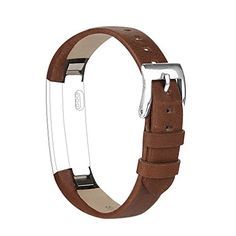 Vancle Fitbit Alta (HR) Band / Fitbit Alta HR 2017 Leather Wristband Adjustable Replacement Accessories Strap with Buckle for Fit bit Alta Fit Bit, Outdoor Gifts, Leather Wristbands, Fitness Watch, Fitbit Alta, Business Outfits, No Equipment Workout, Compliments, Image Link