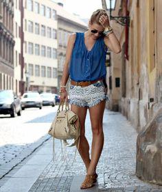 Shop this look on Kaleidoscope (top, shorts, flats)  http://kalei.do/WucHshwBPGf5xihs