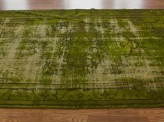 Over Dyed Collection Athena Dark Green Rug