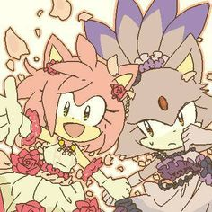 Amy and Blaze. So cute! Amy Rose, Sonic Dash, Sonic And Amy, Sonic The Hedgehog, Shadow The Hedgehog, Rouge The Bat, Sonic Mania, Sonic Fan Characters, Pokemon
