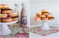 Doughnuts & Milk glasses